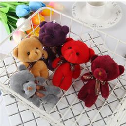 Küçük Ayı Peluş Oyuncaklar Peluş kolye, tek parça ayı çantası aksesuarları, küçük hediyeler Bookbag kolye peluş oyuncaklar nereden küçük ayı aksesuarları tedarikçiler