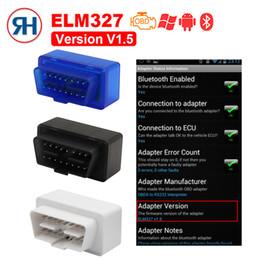 trasporto libero di vci Sconti Super OBD2 Mini ELM327 Bluetooth V1.5 V2.1 OBD 2 Lettore di codici OBDII ELM 327 2.1 Strumento di scansione diagnostico Funziona su Android / PC