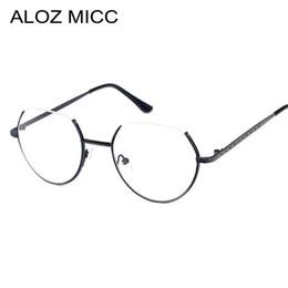 35d6b12c4d ALOZ MICC Alloy Glasses Frame Semi-Rimless on Top Rim Eyeglasses for Men  and Women Optical Eyeglasses Prescription Spectacles UV400 A121