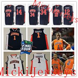 f67425c8ae3 auburn jersey xl 2019 - Custom Auburn 2019 Final Four Basketball Jersey  Anfernee McLemore Devontae Williams