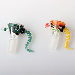 Bongo original on-line-Peruca de Vidro original Wag Nug Bacia 14mm Masculino Inquebrável Tigela De Vidro Wig Pedaço Wag Acessórios de Fumar Para Bongos De Vidro Dab Rig Ferramenta