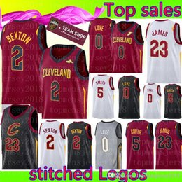 5fffd53cf New Cleveland Collin 2 Sexton Cavaliers Jersey Mens Kevin 0 Love JR 5 Smith  23 Basketball Jerseys Free Shipping