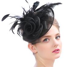 Senhoras chapéus formais on-line-Partido floral Senhora Chapéu Mesh Véu Grampo de Cabelo Acessórios Para o Cabelo Fedoras Lady Fascinator Grampos de Cabelo Chapéu Para Festa Formal
