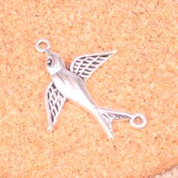 2019 golondrinas 84pcs Charms swallow bird connecotr Colgantes chapados en plata antigua Joyería apta para hacer accesorios Accesorios 37 * 29mm rebajas golondrinas