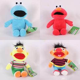 Ruas de natal on-line-Animais empalhados Rua Sésamo Elmo brinquedos de Pelúcia dos desenhos animados Bichos de pelúcia 22 cm / 9 polegadas para as crianças presente de Natal