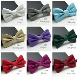 cravates colorées pour hommes Promotion 20 couleurs solide mode noeuds papillon hommes coloré d'échecs cravate cravate noeud papillon mâle mariage arc noeuds papillon