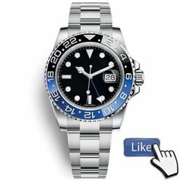 Керамические ремешки для часов онлайн-Новый мастер керамический ободок Мужские часы Glide Lock Застежка-ремешок Автоматические синие черные часы Спортивные часы Crown Наручные часы Orologio Reloj Montre