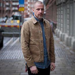Uomini giacca militari cachi online-Giacca da lavoro militare leggera in cotone cerato da uomo in tela cerata Maden Khaki SH190822