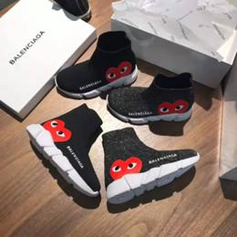 Zapatos de moda para niños baratos online-Zapatilla de moda para niños en zapatillas de deporte para niña niño negro calzado deportivo zapatos de marca baratos para niños de baloncesto entrenador Eu 26-35