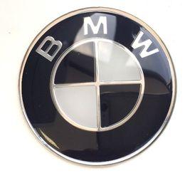 Volante centrale online-45mm Crystal - BMW White Black Adesivo adesivo 3D Center Steering Wheel Cap Badge adatto per le BMW Series