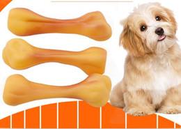 hundeknochen klingende spielzeug Rabatt Pet Emaille Sound Hundeknochen Zylinder Spielzeug Bissfeste Molaren Spielzeug Teddy Golden Maubie Beardog Heimtierbedarf L248