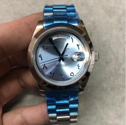 Canada ONEVAN Luxury 228238 cadran bleu argenté boîtier argenté marque mouvement automatique 316L bracelet en acier montre en miroir saphir une qualité Offre