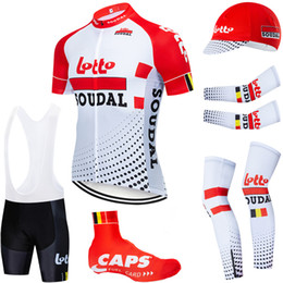 Lotto-team trikots online-6PCS Full Set TEAM 2020 LOTTO Radtrikot 20D Bike-Shorts Set Ropa Ciclismo Sommer schnell trocken pro BICYCLING Maillot Böden Verschleiß