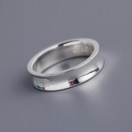 Bandas anulares on-line-2019 venda Quente S925 prata pura banda larga e estreita anel para mulheres e homem jóias de casamento marca de jóias frete grátis PS5588