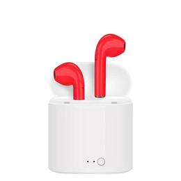 7 I7S TWS Twins Mini Bluetooth Earbud Auricolari Stereo Sport Cuffie Auricolari In-Ear con scatola di ricarica Cable Box Mic per Apple iPhone XS da
