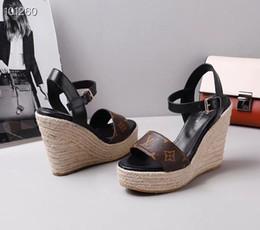 pantofole trasparenti Sconti novità Donna L con box donna sandali AWAY WEDGE vera pelle sandali tacchi alti 34-40 pantofole trasparenti sandali infradito infradito 3 colori