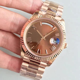 Castelo de ouro romano on-line-Hot Sale 40MM Roman Digital Dial 18 quilates Rose Gold Shell Chocolate 228235 Series Movimento automático 3255 Sapphire vidro Headband Parachrom