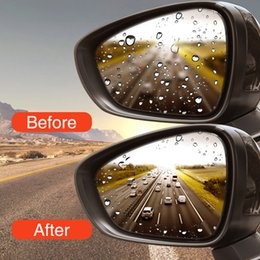 clear view car Coupons - 2PCS Car Rearview Mirror Window Protective Film Anti Fog Clear Rainproof Rear View Mirror Protective Soft Film Auto Accessories