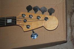 9v батареи Скидка Качество бесплатная доставка F Джаз бас 5 струн Санберст накладка грифа: Палисандр активные звукосниматели 9V батарея электрический бас-гитара @2