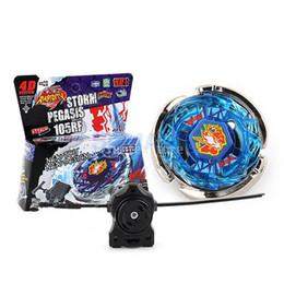 Deutschland Sturm Pegasis Fusion Top 4D Schnelligkeit Kampf Master Sturm PEGASIS 105RF BB28 Kreisel Ripcord Launcher Set Spielzeug Kinder Geschenk supplier spin master toys Versorgung