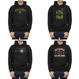 Cavaliers basketball online-Moda Hombres Virginia Cavaliers 2019 NCAA Men's Basketball National Champions sudadera negra con capucha Casual Pocket Hip hop Hoodies