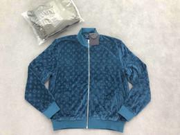 giacche blu bomber Sconti 2019 autunno e inverno nuova giacca in pile di design per uomo di lusso nero e blu Asian SIZE ~ top giacca uomo bomber di alta qualità per uomo