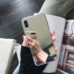 Luxus designer glas bilden spiegel telefon case abdeckung für iphone x xs max xr 10 8 7 6 6 s plus ich telefon x 7 8 plus telefon silber stoßstange 200 stücke von Fabrikanten
