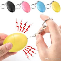 Caixas em forma de ovo on-line-Criança de segurança para crianças alarme de segurança Chaveiro Mulheres Anti Ataque Auto Defender Em Forma de Ovo com Caixa de Varejo Multi Cores