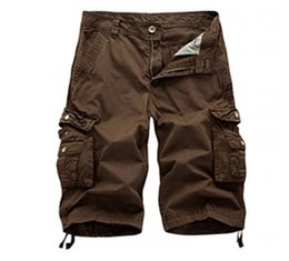 Nouvelle conception de pantalon cargo en Ligne-Nouveaux pantalons cargo pour hommes, sports occasionnels, grandes poches, pantalon design longueur au genou