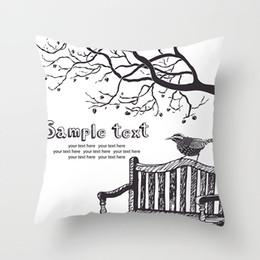 Cuscino bianco nero moderno online-Serie di pittura a inchiostro in bianco e nero Modern Simple Throw Pillow Case a righe a griglia punteggiata Triangular Geometric Art
