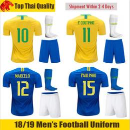 77980c349 18 19 COUTINHO Football Uniforms 2018 MARCELO WILLIAN Soccer Sets 2019  PAULINHO G.JESUS FIRMINO Football Kits