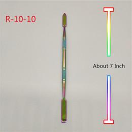 2020 tubo placcato Strumenti da 7 pollici in titanio placcato color arcobaleno per bong in vetro Tubi d'acqua Quarzo Banger Chiodi Rigs olio tubo placcato economici