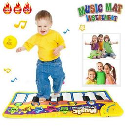 2019 jogos de tabuleiro de bebê Piano Rapazes Meninas Baby Kids Musical jogo Mat Desenvolvimento Educacional macia Brinquedos Bebê bonito Piano Key PVC Música Mat Tapete