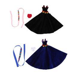 Argentina 12 pulgadas moda chica muñecas elegante fiesta de disfraces franela vestido de noche vestido de cinta para Blythe Doll Accesorio Suministro