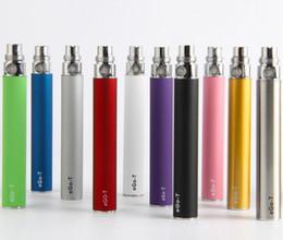 melhor bateria usb Desconto eGo-t Bateria Vape eGo Evod Pen 510 Tópico Baterias 650 900 1100 mAh Vape Pen vem com USB Charger E-cigs vaporizador Melhor Vapes