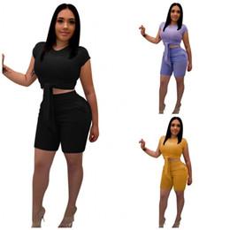chemises sport ajustées Promotion Femme T-shirt pantalon Sexy Slim Fit Ensemble deux pièces Ajustement serré en plein air Vêtements décontractés coton Absorption de la sueur noir violet 42wn C1