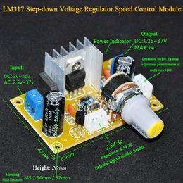 Deutschland LM317 Einstellbarer Spannungsregler DC-Unterspannungsregler LM317 Buck-Modulplatine mit digitalen Voltmetern und Kabel cheap voltmeter module Versorgung