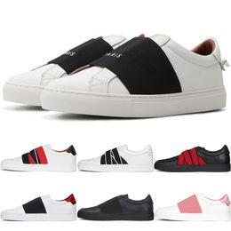 2019 homens sapatos france 2019 Popular baixo-top lace-up das mulheres tênis GVC dos homens de couro Flat Casual Shoes França Designer Slip-on sapatos formadores preto branco Loafers homens sapatos france barato