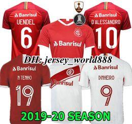 2019 brazil trikots NEU 19 20 Brazil CLUB Internacional Fußballtrikot RED HOME 2019 2020 graues Auswärtstrikot FRAU N. LOPEZ D.ALESSANDRO POTTKER TOP günstig brazil trikots