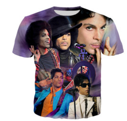 prince tees Promo Codes - 2019 Singer Prince Rogers Nelson New Hot Fashion 3d Print T-shirts Unisex Men Women Tops Summer Casual Short Sleeve Tees Hip Hop N1300