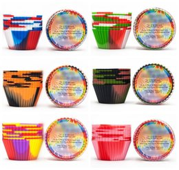 queque muffin panelas Desconto 12 pçs / set camuflagem de silicone baking muffin cupcake maker bolo reutilizável copo resistente ao calor muffin bandejas doces moldes