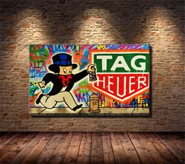 2019 marcos de la pared pinturas al óleo paisaje Alec Monopoly TAG Heuer, HD Impresión de lienzos Nueva decoración del hogar Arte Pintura / Sin marco / Enmarcado