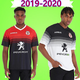 2020 camisas do tamanho do rei Top qualidade 2019 2020 Hot vendas Toulouse Rugby Jersey 19 20 France Toulouse Rugby Sportswear king size camisa Super Rugby S-5XL camisas do tamanho do rei barato