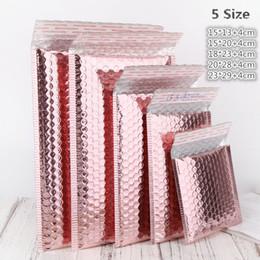 2019 sacos ziplock vermelhos Expresso Bolha Envolva Bag Logística embalagem Rose Gold Foil bolha Mailer presente do favor do casamento Embalagem O pacote Film Bags