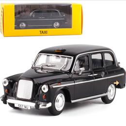 Modelo estático online-1:43 Modelo estático Classic Vintage Acrylic Box London Taxi 1958 Alloy Car Model toys Diecast para colección Regalos