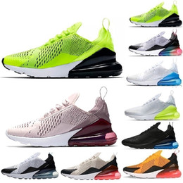 new concept 53b39 7e775 Nike Air Max 270 Caldo commercio all ingrosso 20 colori 27C mens scarpe da  uomo di alta qualità Mens Flair Triple Black Trainer Donna aria casual  scarpe ...