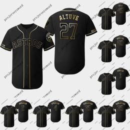955dc032c0a Houston 27 Jose Altuve 2019 Golden Edition Jersey Carlos Correa Alex  Bregman George Springer Justin Verlander Dallas Keuchel Astros Jerseys