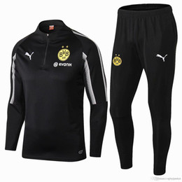 new 18 19 season Dortmund jacket Long sleeve Gomez uniform 2018 2019 home  away tracksuits soccer jersey Gotze training suit e46f816a4