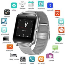умные часы стали водонепроницаемыми Скидка 2019 Новый Нержавеющей Стали Bluetooth Smart Watch Женщины Мужчины Спорт Водонепроницаемый SmartWatch LED Цвет Сенсорный Экран Часы Поддержка SIM TF