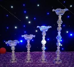 2019 vasi per eventi di nozze Centrotavola di cristallo centrotavola supporto di candela portacandele basamento di cristallo vaso per la decorazione di eventi festa di matrimonio WT099 vasi per eventi di nozze economici